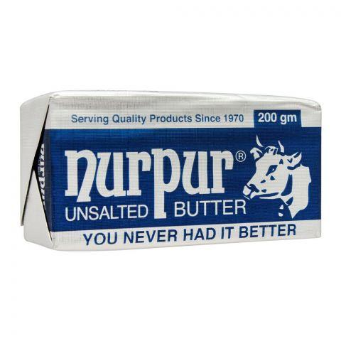 Nurpur Butter, Unsalted, 200g