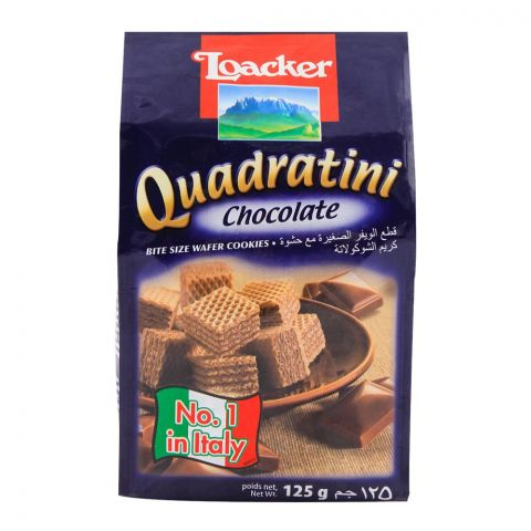 Loacker Quadratini Chocolate Wafer 125gm