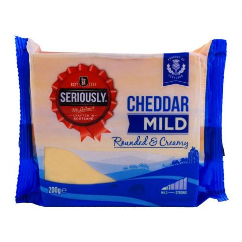 Mclelland Seriously Mild Cheddar 200g