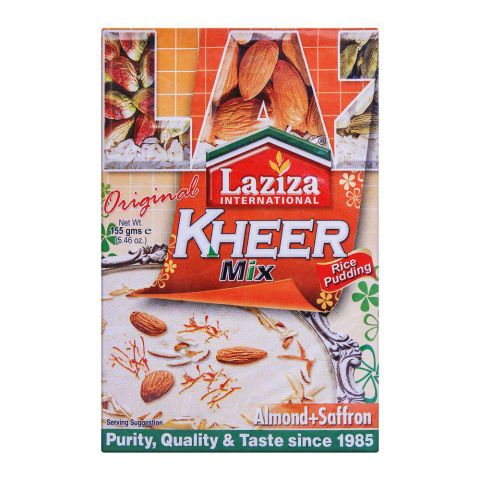 Laziza Kheer Mix Almond + Saffron 155g