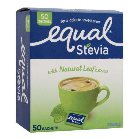 Equal Stevia Sweetener Sachets, Zero Calories, 50-Pack