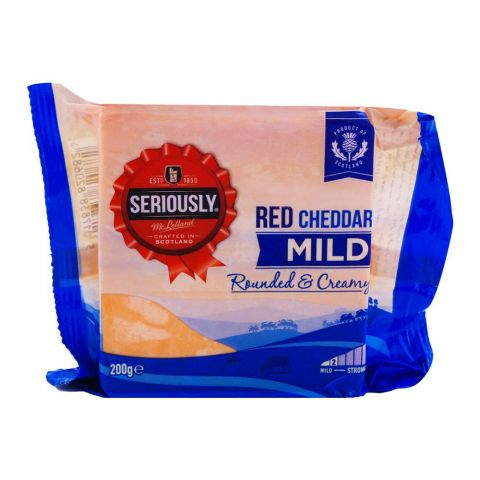 Mclelland Seriously Mild Red Cheddar 200g
