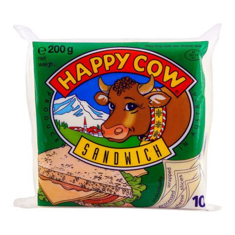 Happy Cow Sandwich Slice Cheese 200g