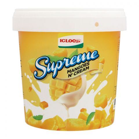 Igloo Supreme Mango N Cream Frozen Dessert, 1 Liter