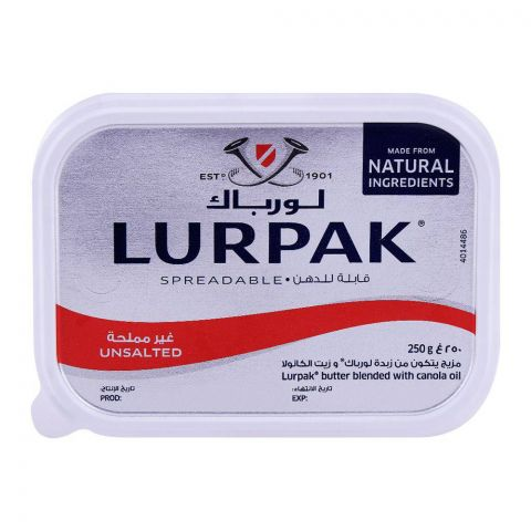 Lurpak Unsalted Spreadable Butter 250g