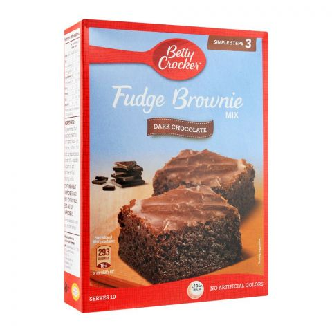 Betty Crocker Fudge Brownie Mix, Dark Chocolate, 500g