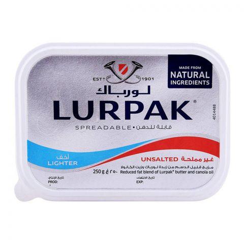 Lurpak Unsalted Lighter Spreadable Butter 250g