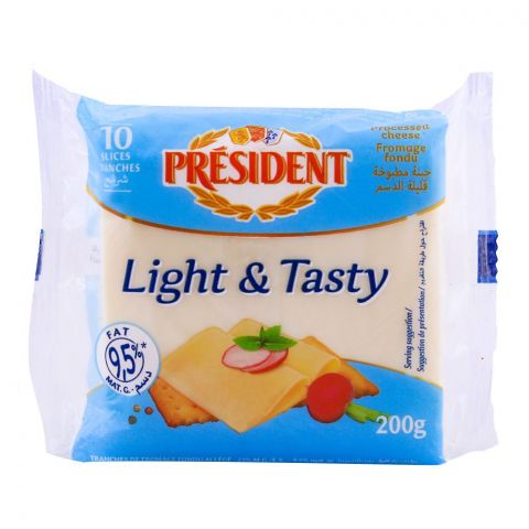 President Light & Tasty Cheese, 12 Slices, 200g