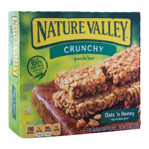 Nature Valley Oats and Honey Crunchy Granola Bars 252g