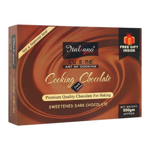 Italiano Cooking Chocolate, Sweetened Dark Chocolate, 500g