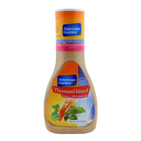 American Garden Light Thousand Island, Gluten, Free, 9oz/267ml
