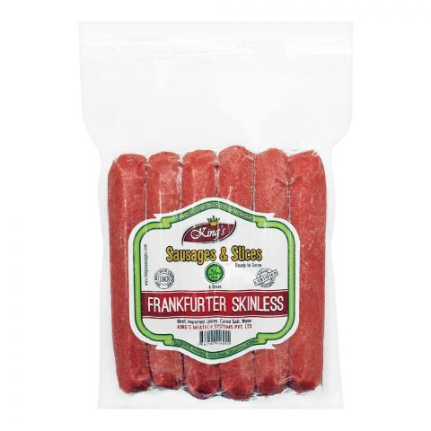 King's Frankfurter Skinless Sausages, 6 Pieces