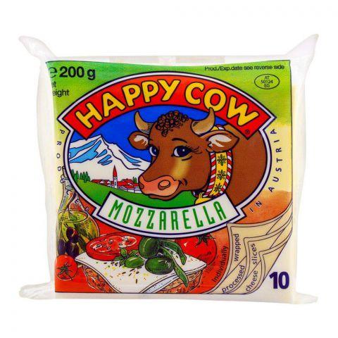 Happy Cow Mozzarella Slice, 10-Pack, 200g