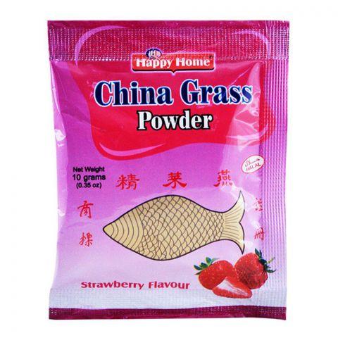 Happy Home China Grass Powder, Strawberry, 10g