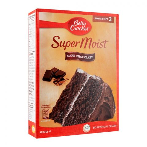 Betty Crocker Super Moist Cake Mix, Dark Chocolate, 500g