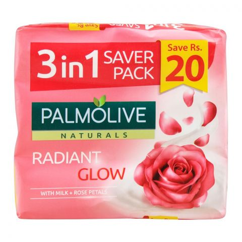 Palmolive Naturals Radiant Glow Soap, 3-In-One Pack, 3X145g