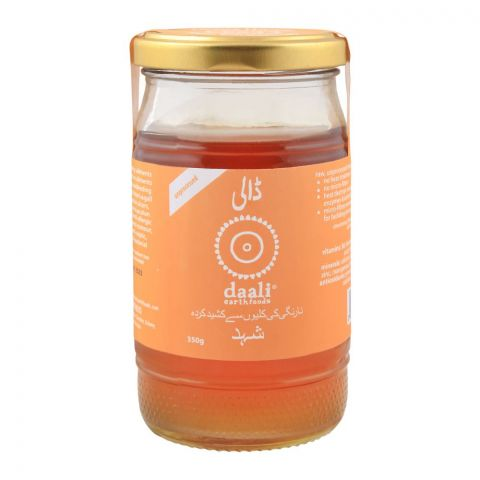 Daali Organic Citrus Honey, Unprocessed, 350g