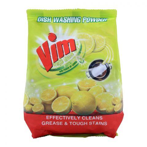 Vim Dish Washing Powder, With Lemon, Bag, 450g