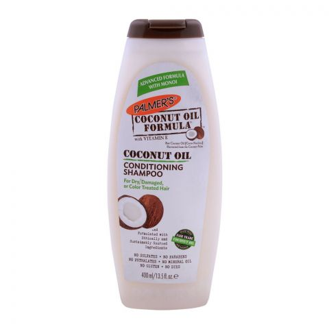 Palmer's Coconut Oil Conditioning Shampoo, With Vitamin-E, For Dry, Damaged & Color Treated Hair, 400ml