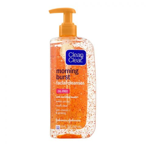 Clean & Clear Morning Burst Oil Free Facial Cleanser, 240ml
