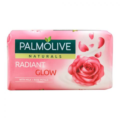 Palmolive Naturals Radiant Glow Soap, Milk + Rose Petals, 110g