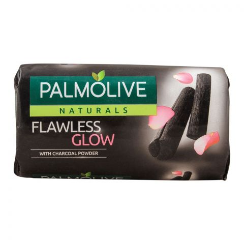 Palmolive Naturals Flawless Glow Soap, With Charcoal Powder, 145g