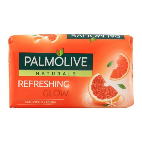 Palmolive Naturals Refreshing Glow Soap, Citrus + Cream, 110g