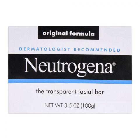 Neutrogena Original Formula Facial Bar, Transparent, 100gm
