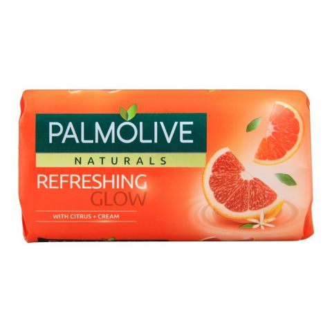 Palmolive Naturals Refreshing Glow Soap, Citrus + Cream, 145g