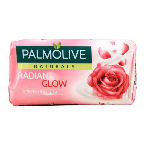 Palmolive Naturals Radiant Glow Soap, Milk + Rose Petals, 145g