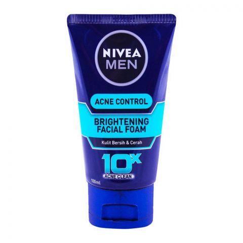 Nivea Men Acne Control Brightening Facial Foam 100ml