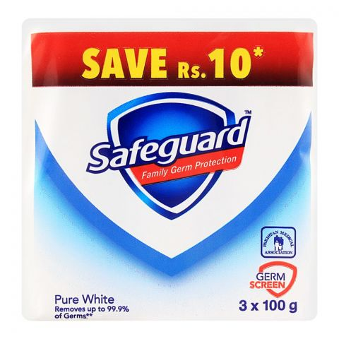 Safeguard Soap White 100gm 3-Pack Pack