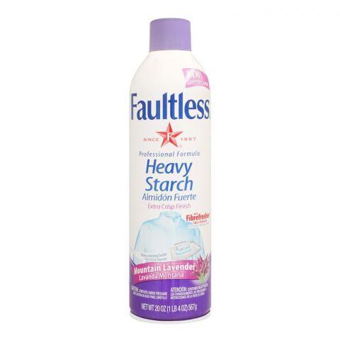Faultless Heavy Starch Spray, Mountain Lavender, 567g