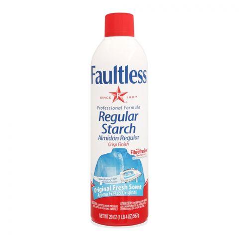Faultless Regular Starch Spray, Original Fresh Scent, 567g