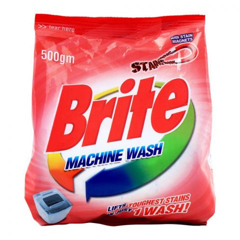 Brite Machine Wash Detergent Powder 500g