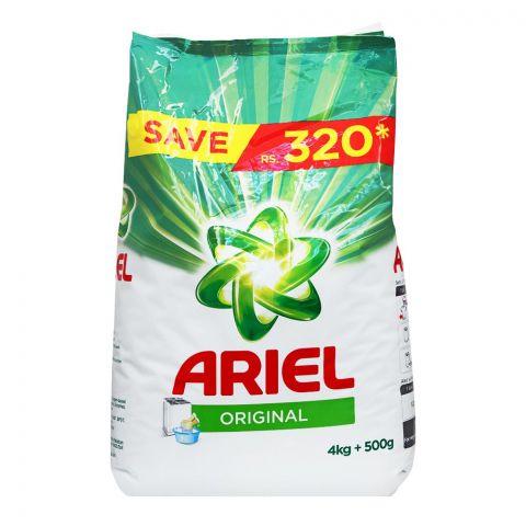 Ariel Original Perfume, Washing Powder, Bag, 4 KG