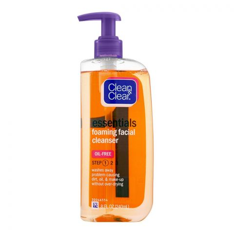 Clean & Clear Essentials Oil Free Foaming Facial Cleanser, Step 1, 240ml
