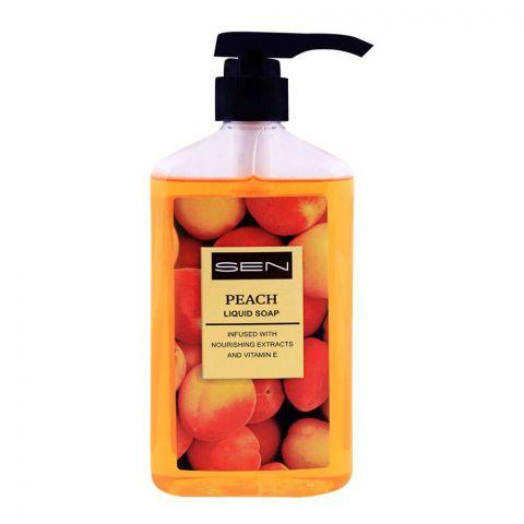 Sen Peach Liquid Soap, Nourishing Extracts & Vitamin-E, 600ml