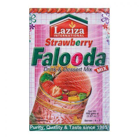 Laziza Strawberry Falooda Drink & Dessert Mix 195g