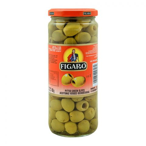 Figaro Pitted Green Olives, 450g