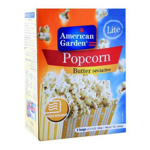 American Garden Butter Popcorn, 94% Fat Free, 255g