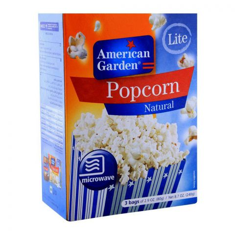 American Garden Lite Popcorn, Natural, 240g