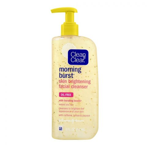 Clean & Clear Morning Burst Oil Free Skin Brightening Facial Cleanser, 240ml