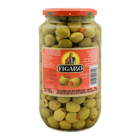 Figaro Stuffed Green Olives With Pimento Paste, 920g