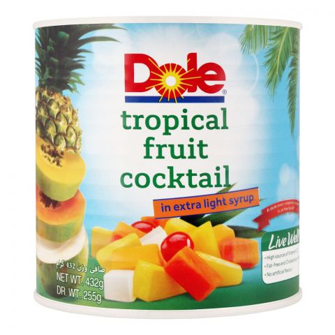 Dole Tropical Fruit Cocktail, In Extra Light Syrup, 432g
