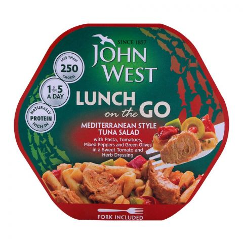 John West Mediterranean Style Tuna Salad, Lunch On The Go 220g