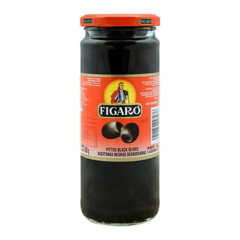 Figaro Pitted Black Olives, 450g