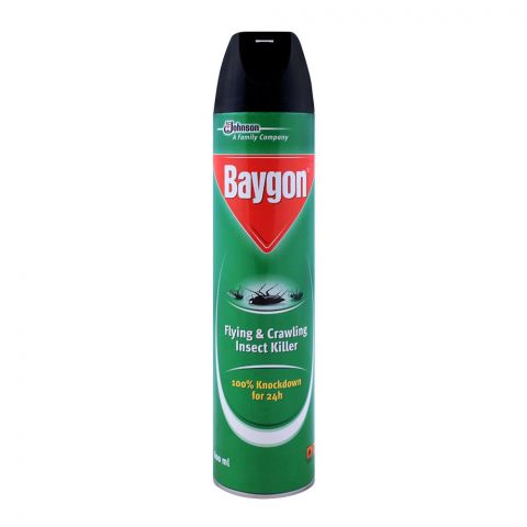 Baygon Flying & Crawling Insect Killer, 100% Knockdown For 24H, 600ml