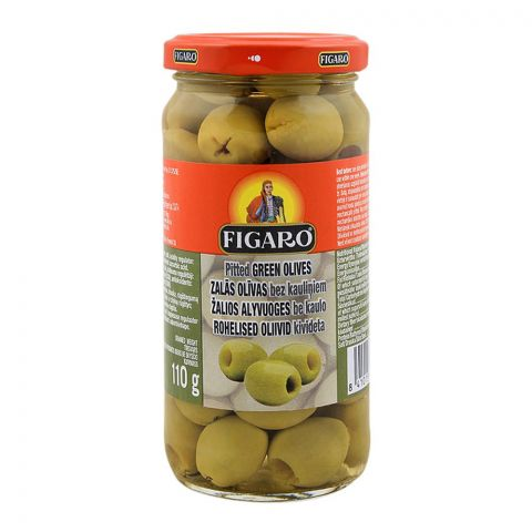 Figaro Pitted Green Olives, 240g