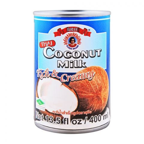 Suree Thai Coconut Milk, Rich & Creamy, 400ml